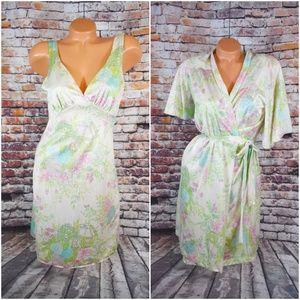 Gilead Medium Satin Nightgown Robe Set 1960s Silky